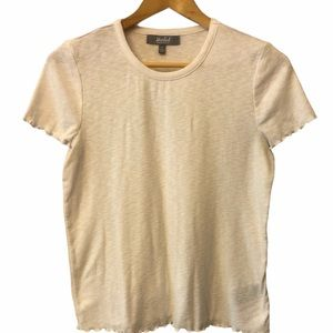 Marled Knit short sleeve crew neck top